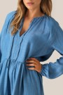 Second Female - Lilla Shirt Dress - blue denim thumbnail