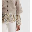 ODD MOLLY - NORDIC LOVE KNITTED CARDIGAN - PEBBLE GREY thumbnail