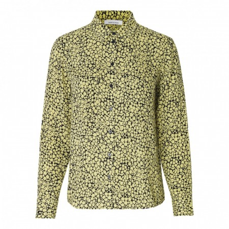 Samsøe & Samsøe - Milly Shirt Aop 7201 - Yellow Buttercup