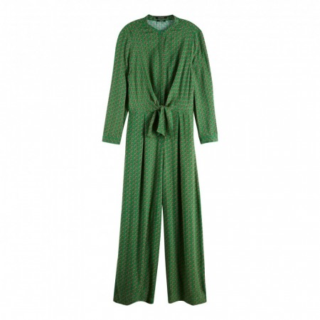 MAISON SCOTCH - JUMPSUIT WITH KNOT DETAIL - GRØNN