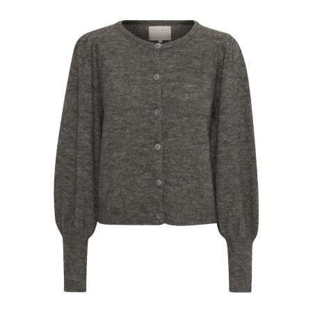 PART TWO - TALIVA CARDIGAN - MEDIUM GREY MELANGE