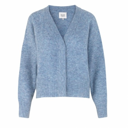Second Female -  Brook Knit Boxy Cardigan - blue bonnet