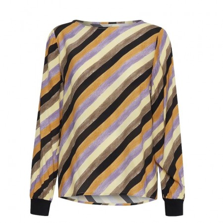 PULZ - PZTINA BLUSE - YELLOW STRIPE