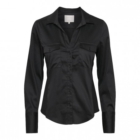 PART TWO - CORTNELLA SHIRT - BLACK