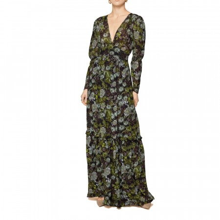 By Ti-mo - Delicate Wrap Dress - green garden