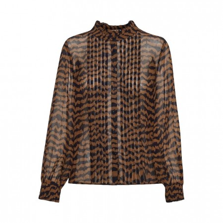 PART TWO - ESIN SHIRT - IKAT PRINT, CHOCOLATE GLAZE
