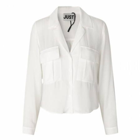 JUST FEMALE - LEOLIA SHIRT - OFF WHITE