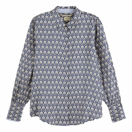 MAISON SCOTCH - REGULAR FIT VISCOSE SHIRT WITH POPLIN DETAILS - BLÅ