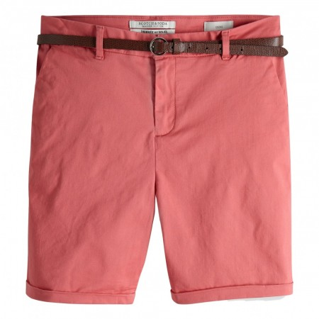 MAISON SCOTCH - LONGER LENGHT CHINO SHORTS - ROSA