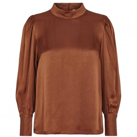 Just Female - Shea Blouse - Warm Brown