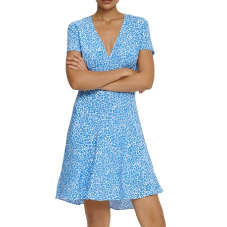 Samsøe & Samsøe - Cindy S Dress Aop 10056 - Blue Buttercup