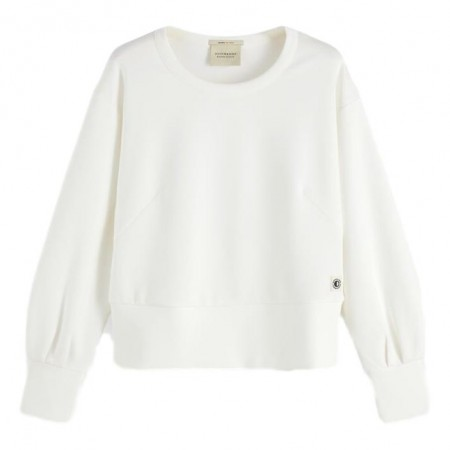 MAISON SCOTCH - CHIC CREWNECK SWEAT - OFF-WHITE