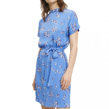 SAMSØE & SAMSØE - BLUMEA SHORT DRESS AOP 8325 - BLUE BREEZE