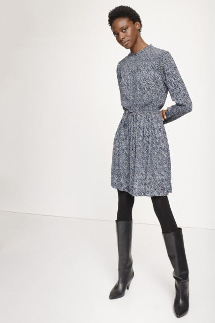 Samsøe & Samsøe - Monique Dress - blue twiggy