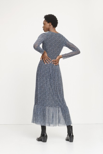 SAMSØE & SAMSØE - LORI DRESS AOP 8211 - BLUE TWIGGY