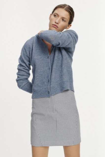 SAMSØE SAMSØE - NOR SHORT CARDIGAN - BLUE MIRAGE MEL.