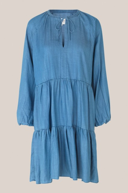 Second Female - Lilla Shirt Dress - blue denim