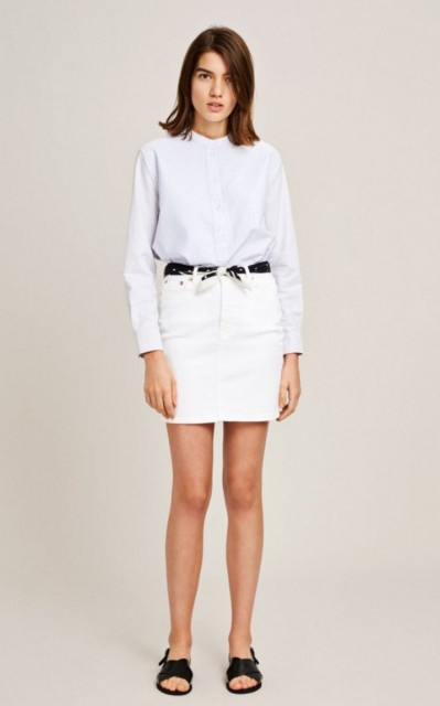 SAMSØE & SAMSØE - PAMELA SKIRT 989 - WHITE DENIM