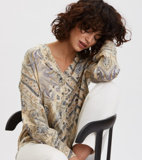 ODD MOLLY - RADIANT BLUSE - DUNE BEIGE